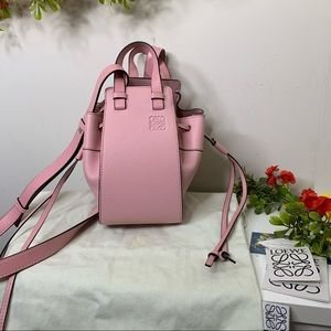 Loewe Pastel Pink Mini Hammock Bucket Bag